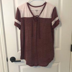 SO V-neck Tie T-Shirt